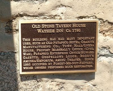 Old Stone Tavern House Marker image. Click for full size.