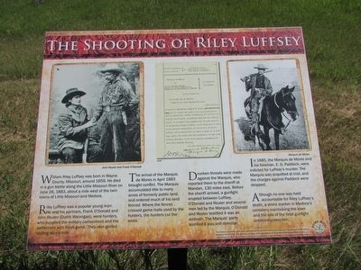 The Shooting of Riley Luffsey Marker image. Click for full size.