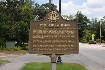 Oliver Norvell Hardy Marker image. Click for full size.