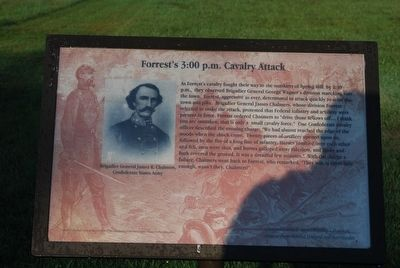 Forrest's 3:00 p.m. Cavalry Attack Marker image. Click for full size.