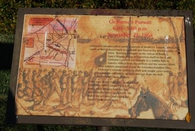 Cleburne's Pursuit Marker image. Click for full size.