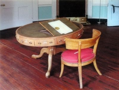 President Madison Signed the Treaty of Ghent on this table. image. Click for full size.