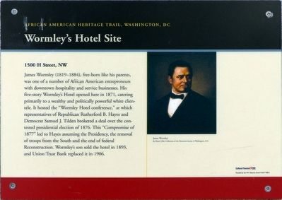 Wormley's Hotel Site Marker image. Click for full size.