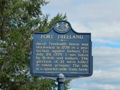 Fort Freeland Marker image. Click for full size.