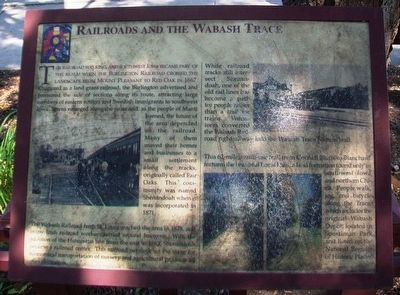 Railroads and the Wabash Trace Marker image. Click for full size.