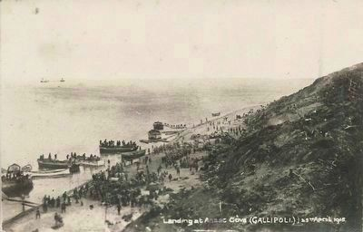 <i>Landing at Anzac Cove (Gallipoli)</i> image. Click for full size.