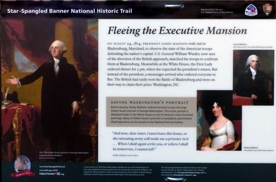 Fleeing the Executive Mansion Marker image. Click for full size.