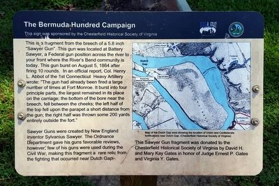 The Bermuda Hundred Campaign Marker image. Click for full size.