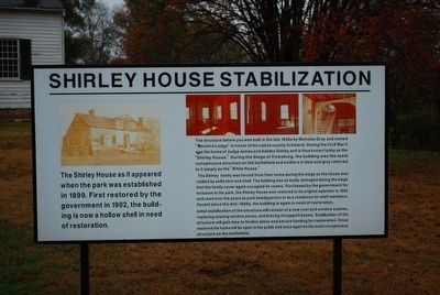Shirley House Stabilization Sign image. Click for full size.