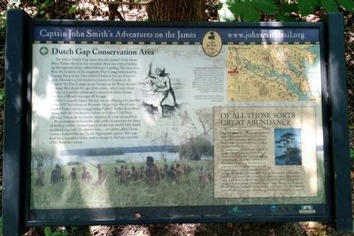 Dutch Gap Conservation Area Marker image. Click for full size.