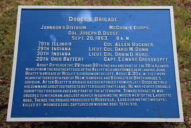 Dodge's Brigade Marker image. Click for full size.