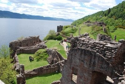 Looking south atop Urquhart Castle (Grant Tower) image. Click for full size.