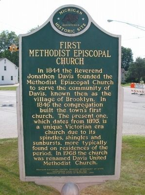 First Methodist Episcopal Church Marker image. Click for full size.