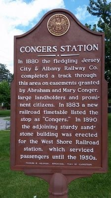 Congers Station Marker image. Click for full size.