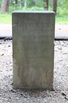 3rd and 5th Confederate Tennessee Infantry Marker image. Click for full size.