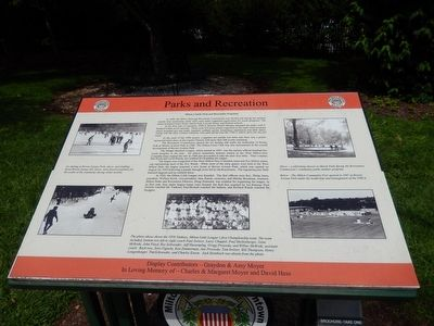 Milton's Early Park and Recreation Programs Marker image. Click for full size.