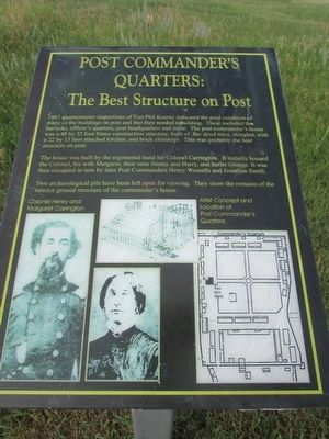Post Commander's Quarters Marker image. Click for full size.