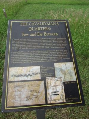 The Cavalryman's Quarters: Marker image. Click for full size.