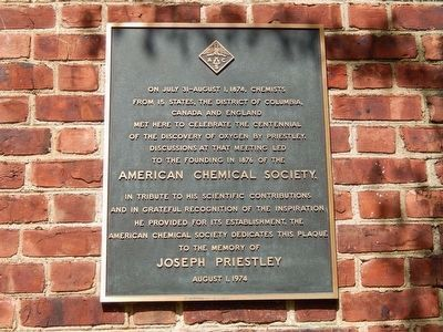 Joseph Priestley House image. Click for full size.