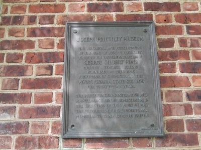 Joseph Priestley House Marker image. Click for full size.