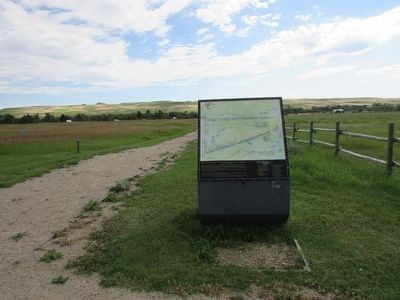 Marker in Fort Phil Kearny image. Click for full size.