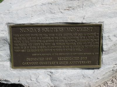 Nunda Soldiers' Monument Marker image. Click for full size.