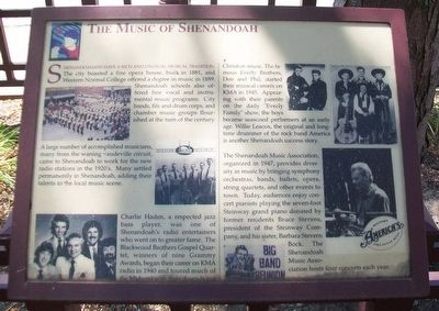 The Music of Shenandoah Marker image. Click for full size.