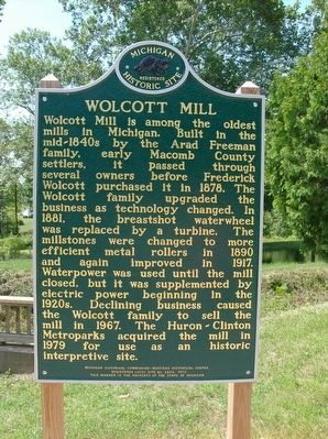 Wolcott Mill Marker image. Click for full size.