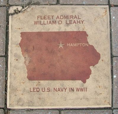 Fleet Admiral William D. Leahy Marker image. Click for full size.