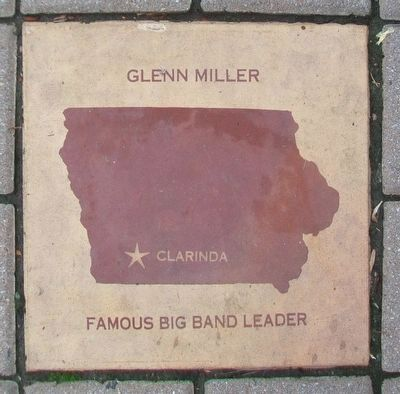Glenn Miller Tile in the Iowa Walk of Fame image. Click for full size.