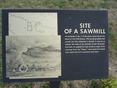 Site of a Sawmill Marker image. Click for full size.