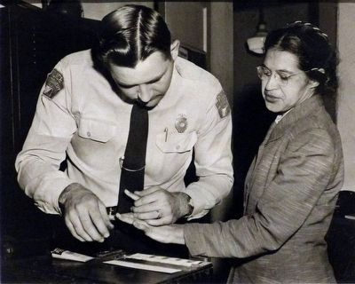 Rosa Parks & D. H. Lackey image. Click for full size.