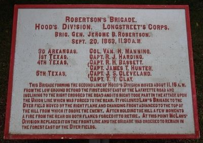 Robertson's Brigade Marker image. Click for full size.
