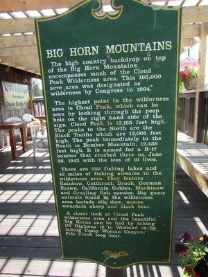 Big Horn Mountains Marker image. Click for full size.