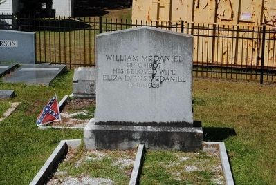 William and Eliza Evans McDaniel Tombstone image. Click for full size.