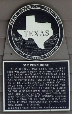 W.Y. Penn Home Texas Historical Marker image. Click for full size.