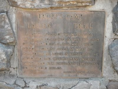 Bruff's Camp Marker image. Click for full size.