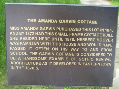 The Amanda Garvin Cottage Marker image. Click for full size.