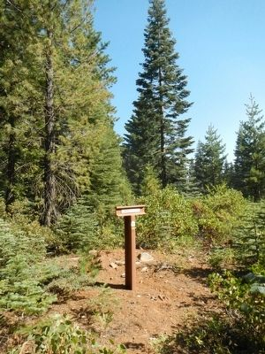 Lassen Trail - The Last Summit Marker image. Click for full size.