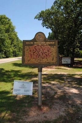Shiloh Methodist Church Marker image. Click for full size.