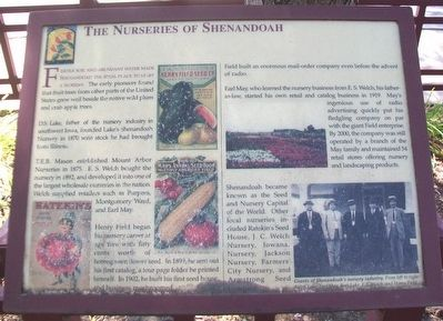 The Nurseries of Shenandoah Marker image. Click for full size.