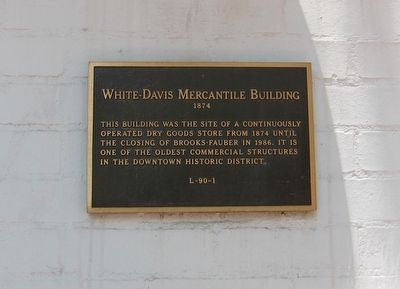 White-Davis Mercantile Story Marker image. Click for full size.