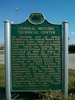 General Motors Technical Center Marker image. Click for full size.
