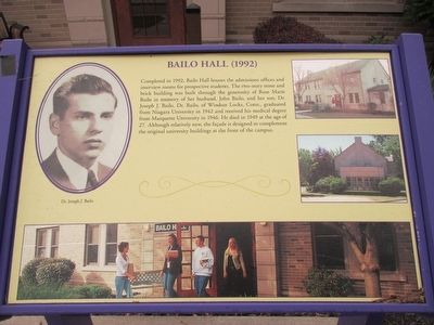 Bailo Hall (1992) Marker image. Click for full size.