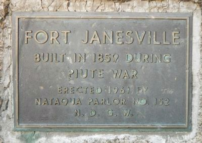 Fort Janesville Marker image. Click for full size.