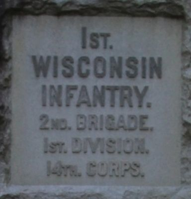 1st Wisconsin Infantry Marker image. Click for full size.