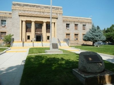 Lassen County Courthouse Marker image. Click for full size.