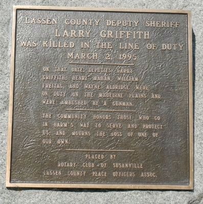 Larry Griffith Marker image. Click for full size.