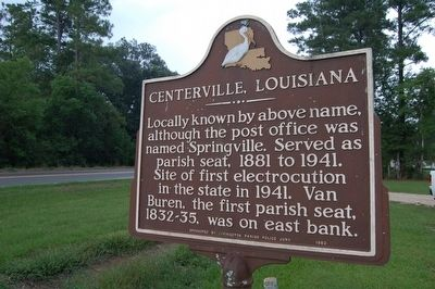 Centerville, Louisiana Marker image. Click for full size.