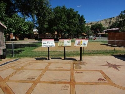 Markers in Medora image. Click for full size.